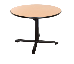 4-place, height adjustable round table